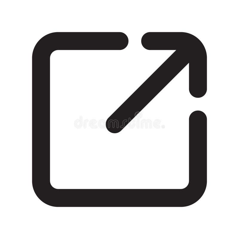 Icône de lien externe, icône ouverte de page illustration stock