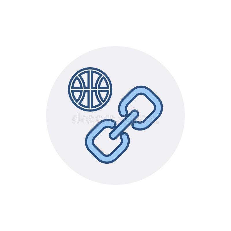 Icône de lien de Web de Web de réseau de lien d'Internet de lien hypertexte de globe illustration libre de droits