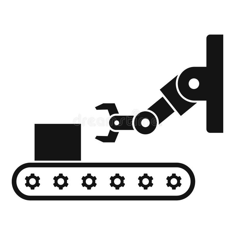 Icône de ligne d'assemblage industriel, style simple illustration de vecteur