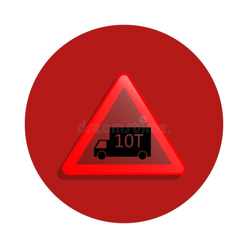 Icône de limite de charge dans le style d'insigne Un de la route chante l'icône de collection peut être employé pour UI, UX illustration de vecteur