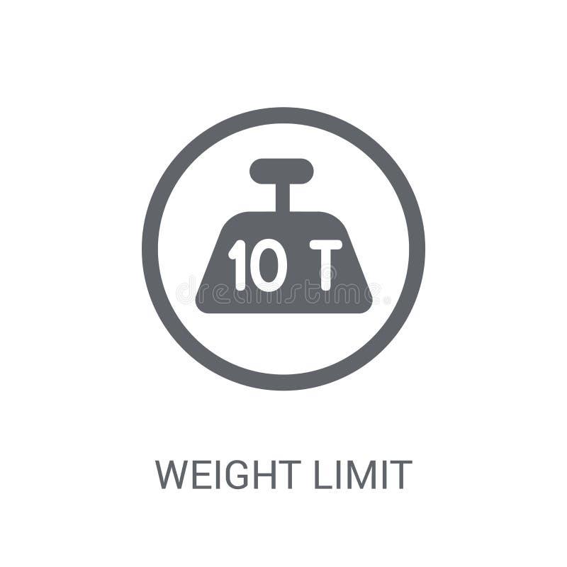 icône de limite de poids  illustration stock