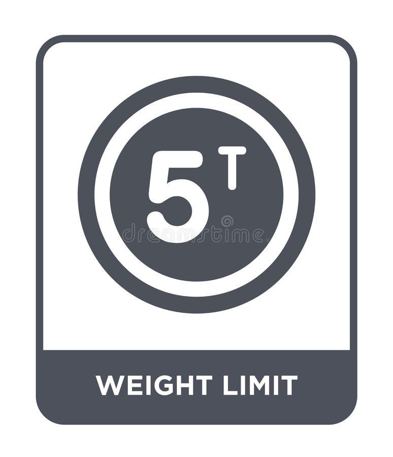 icône de limite de poids dans le style à la mode de conception icône de limite de poids d'isolement sur le fond blanc icône de ve illustration libre de droits