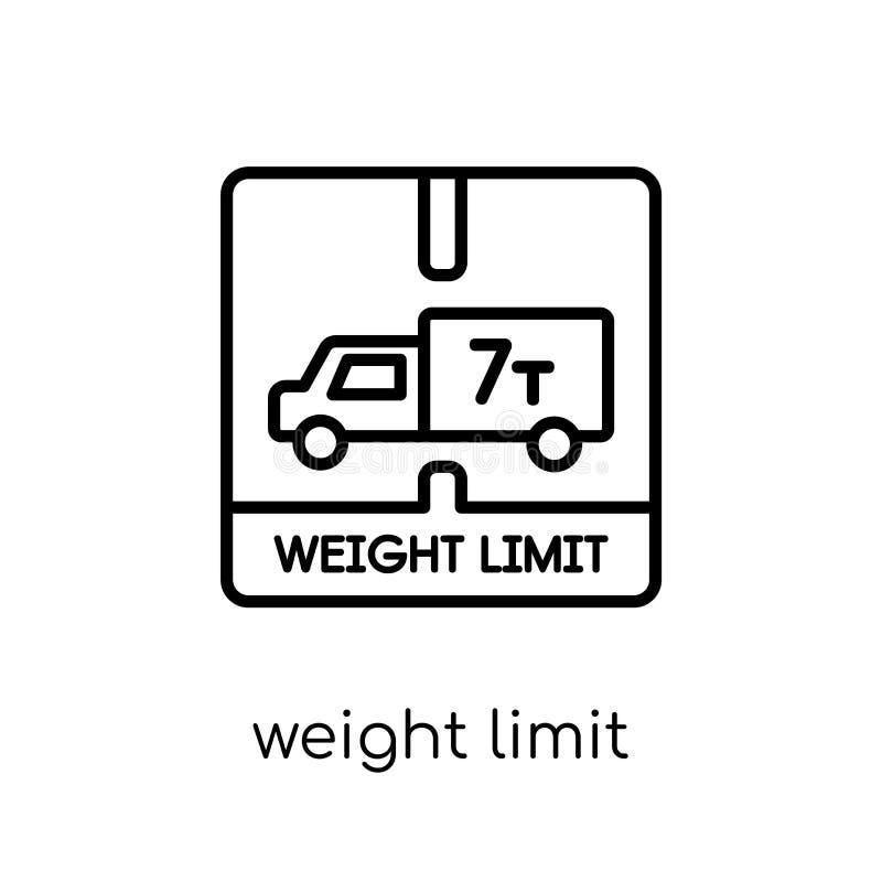 icône de limite de poids de la livraison et de la collection logistique illustration de vecteur