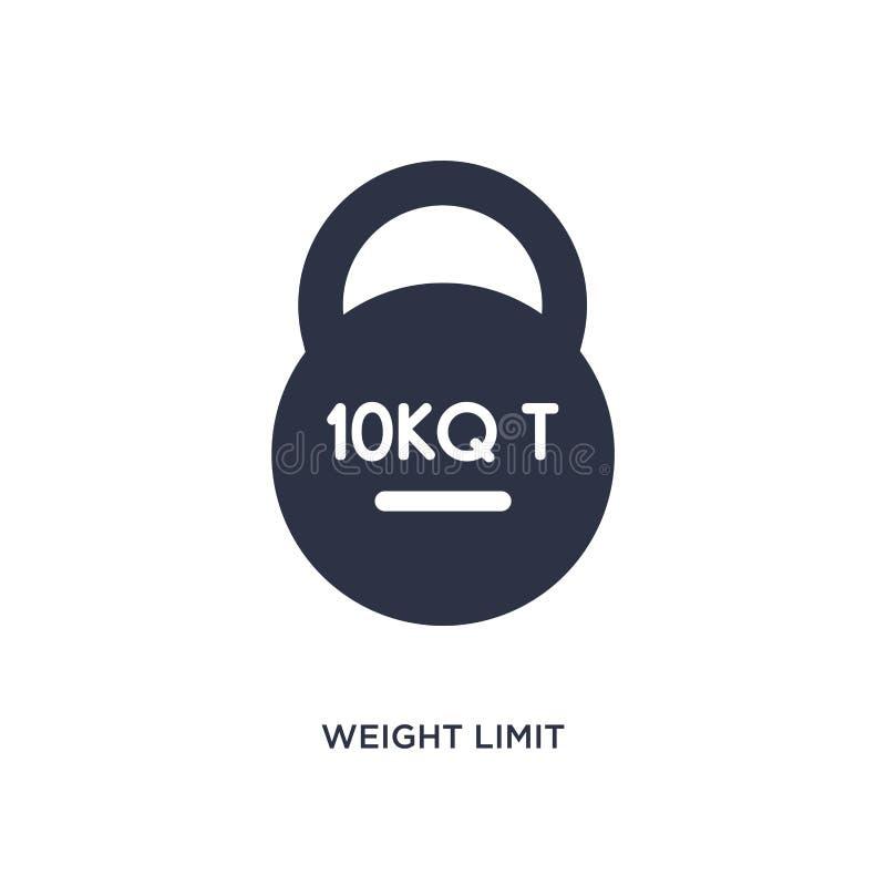 icône de limite de poids sur le fond blanc Illustration simple d'élément de concept de la livraison et de logistique illustration stock