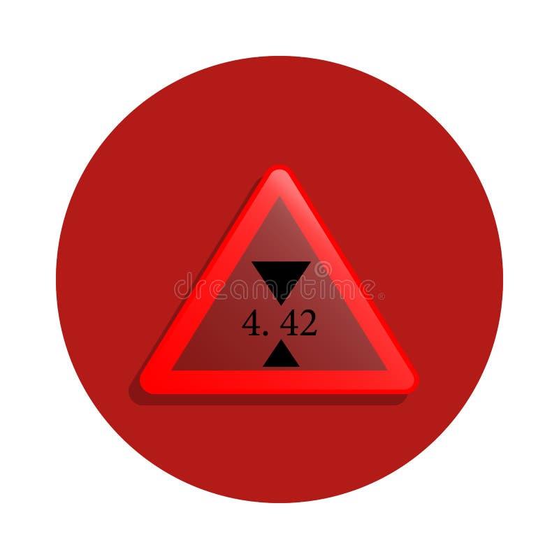 Icône de limite de taille dans le style d'insigne Un de la route chante l'icône de collection peut être employé pour UI, UX illustration libre de droits