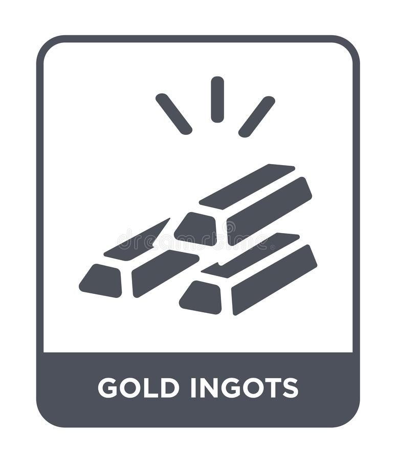 icône de lingots d'or dans le style à la mode de conception icône de lingots d'or d'isolement sur le fond blanc les lingots d'or  illustration de vecteur