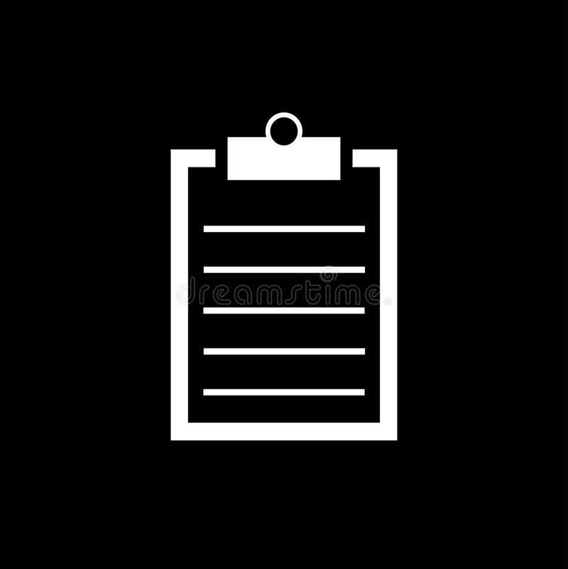 Icône de liste de contrôle - illustration de vecteur illustration stock