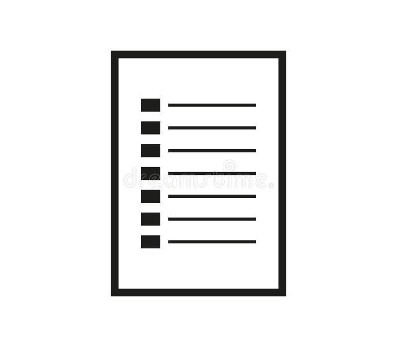 Icône de liste d'achats illustration stock