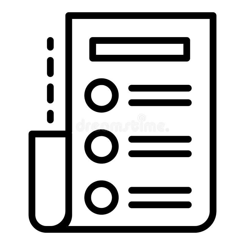Icône de liste d'archives, style d'ensemble illustration libre de droits