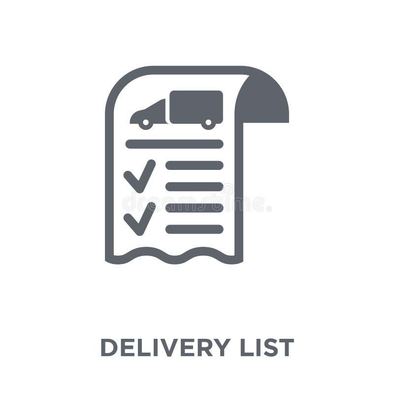 Icône de liste de la livraison de la livraison et de la collection logistique illustration stock