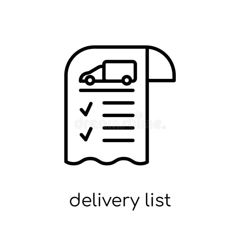 Icône de liste de la livraison de la livraison et de la collection logistique illustration libre de droits