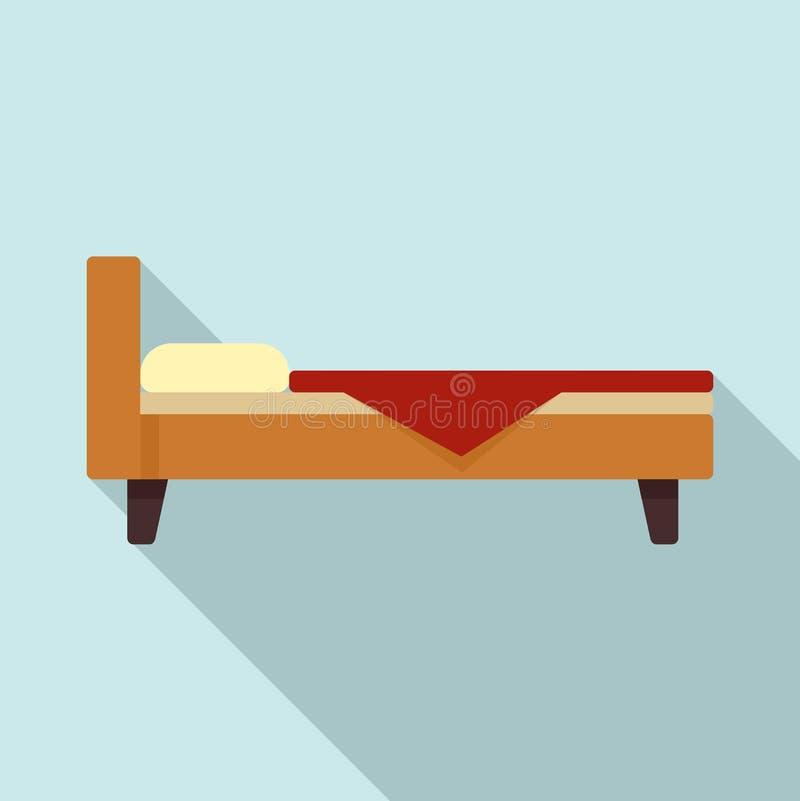 Icône de lit d'hôpital, style plat illustration de vecteur