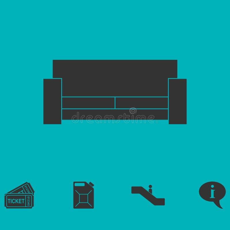 Icône de lit plate illustration libre de droits