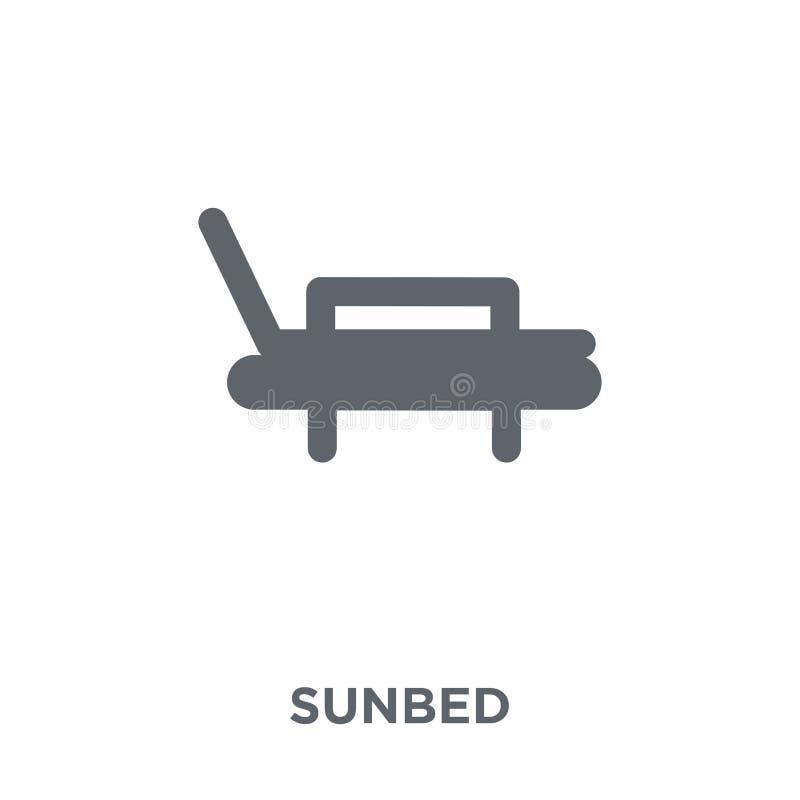 Icône de lit pliant de collection illustration stock