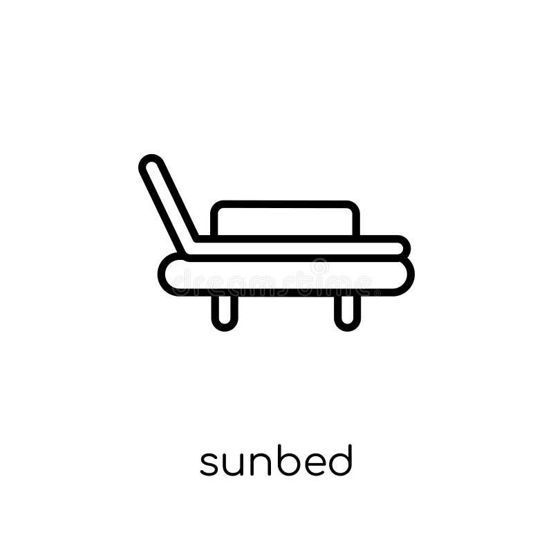 Icône de lit pliant de collection illustration de vecteur