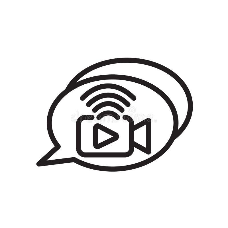 icône de livechat d'isolement sur le fond blanc illustration libre de droits