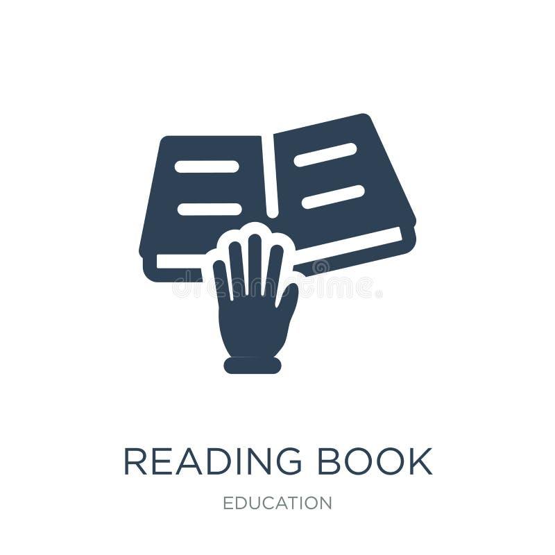 icône de livre de lecture dans le style à la mode de conception icône de livre de lecture d'isolement sur le fond blanc icône de  illustration stock