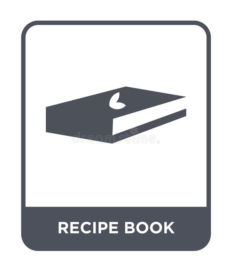 icône de livre de recette dans le style à la mode de conception Icône de livre de recette d'isolement sur le fond blanc icône de  illustration stock