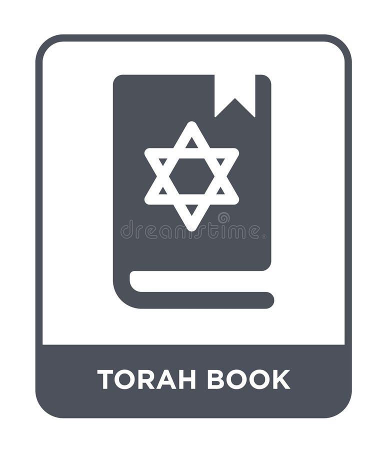 icône de livre de torah dans le style à la mode de conception icône de livre de torah d'isolement sur le fond blanc icône de vect illustration libre de droits