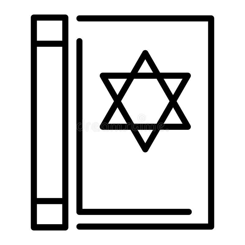 Icône de livre de Torah, style d'ensemble illustration de vecteur