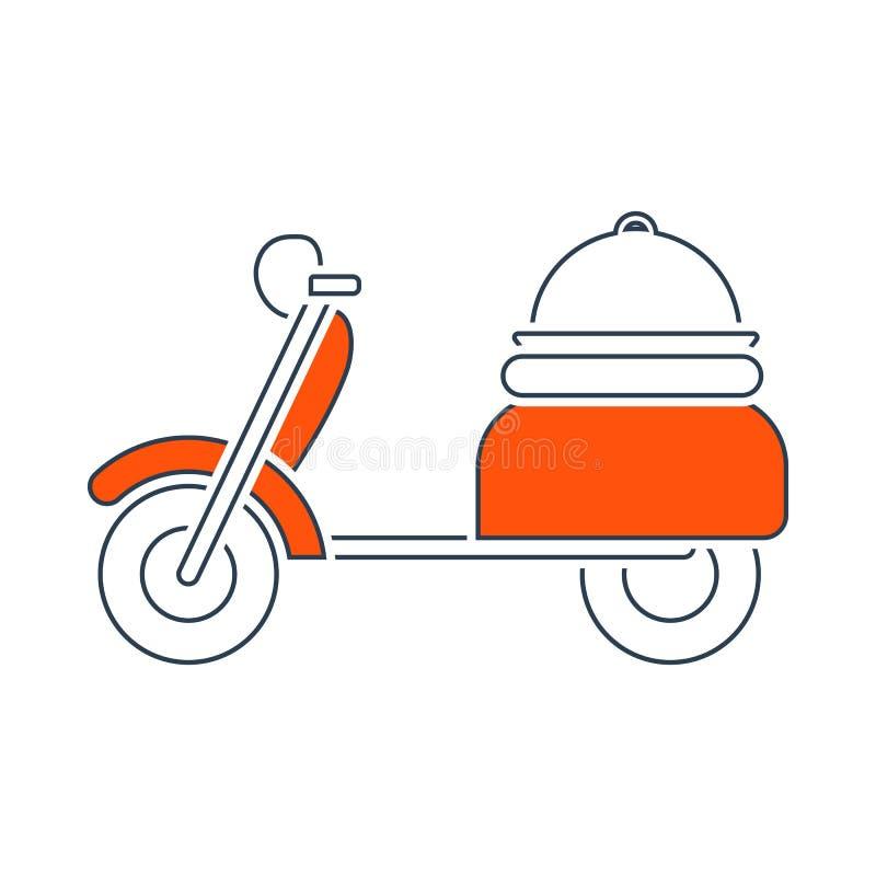 Ic?ne de livrer la moto illustration de vecteur