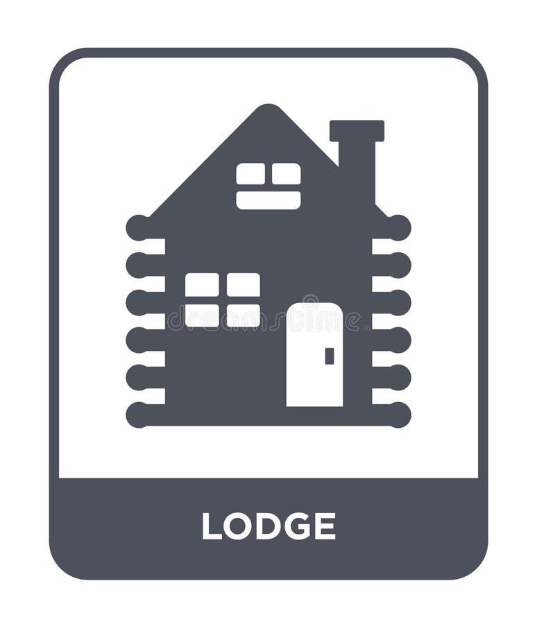 icône de loge dans le style à la mode de conception icône de loge d'isolement sur le fond blanc symbole plat simple et moderne d' illustration stock