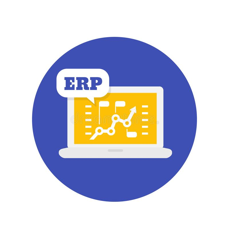 Icône de logiciel d'ERP illustration de vecteur