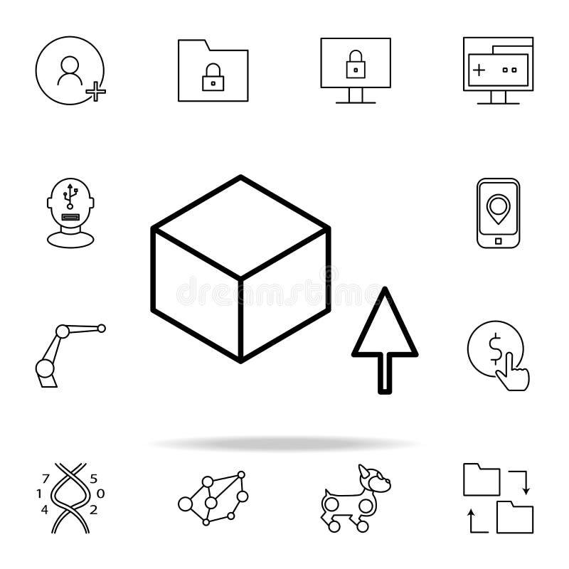 icône de logiciel de téléchargement Ensemble universel d'icônes de nouvelles technologies pour le Web et le mobile illustration libre de droits