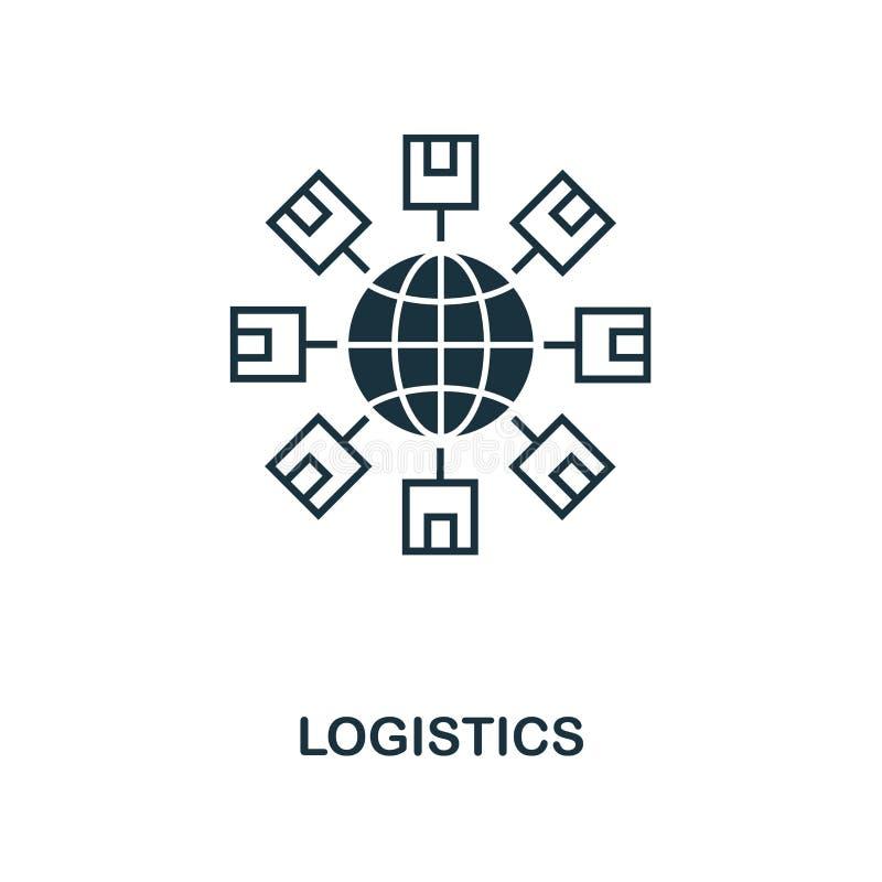 Icône de logistique Conception monochrome de style de collection d'icône de la livraison de logistique Ui Icône simple parfaite d illustration stock