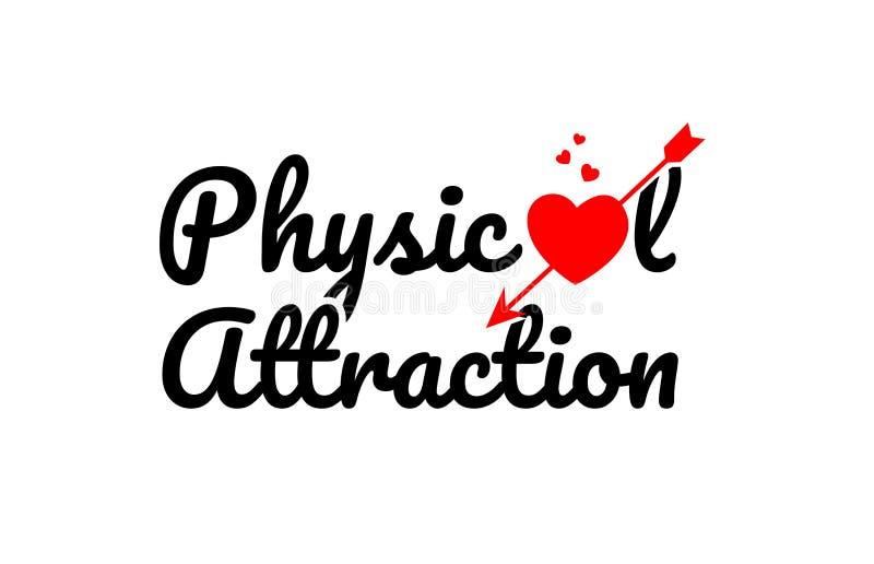 icône de logo de conception de typographie des textes de mot d'attraction physique illustration de vecteur