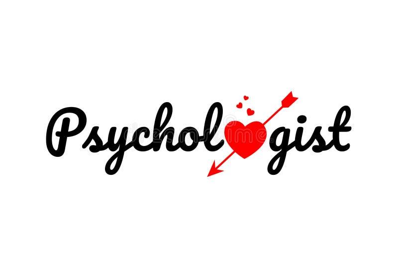 icône de logo de conception de typographie des textes de mot de psychologue illustration de vecteur