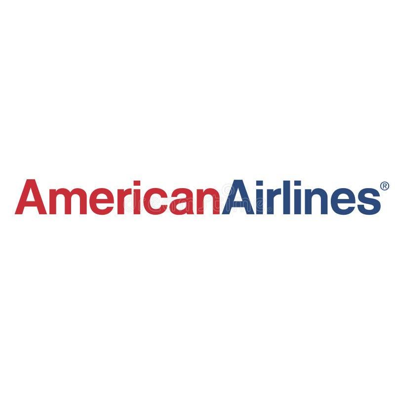 Icône de logo d'American Airlines illustration de vecteur