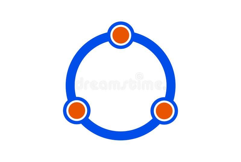 Icône de logo d'angle de l'anneau trois illustration stock