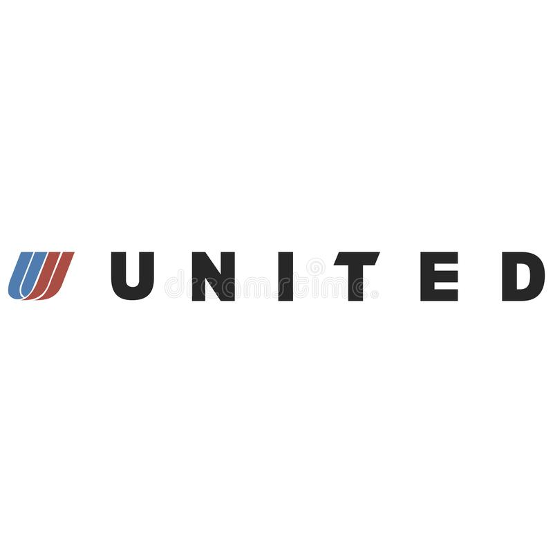 Icône de logo d'United Airlines illustration de vecteur