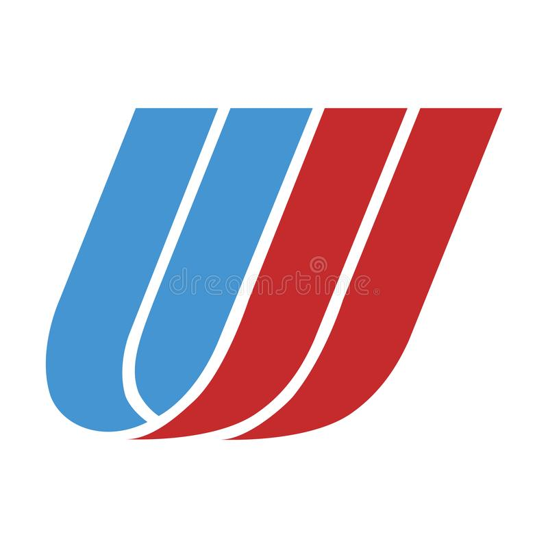Icône de logo d'United Airlines illustration stock