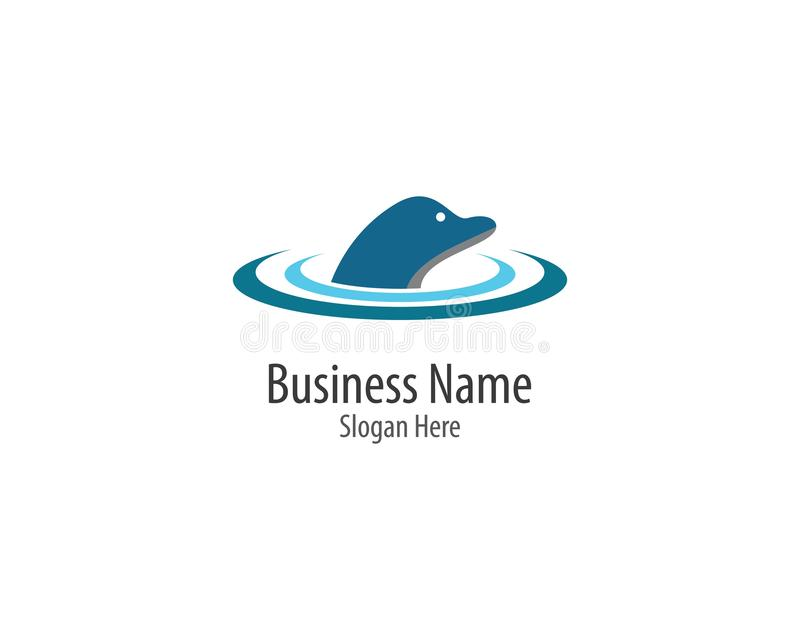 Icône de logo de dauphin illustration stock