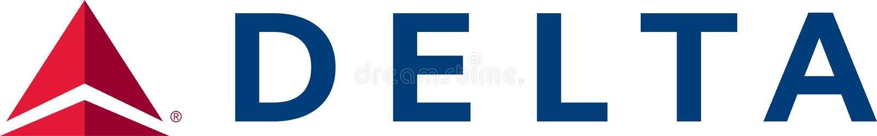Icône de logo de Delta Airlines illustration libre de droits