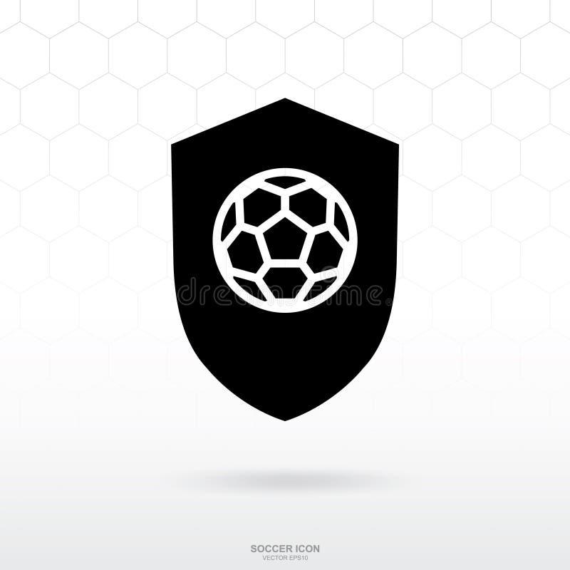 Icône de logo du football Signe et symbole de sport du football du football illustration libre de droits