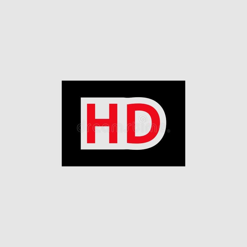 Icône de logo de film de Hd Élément d'icône de théâtre pour des applis mobiles de concept et de Web L'icône détaillée de logo de  illustration stock