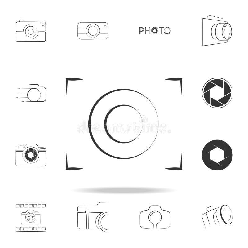 icône de logo de foyer d'appareil-photo Ensemble détaillé d'icônes d'appareil-photo de photo Conception graphique de la meilleure illustration de vecteur
