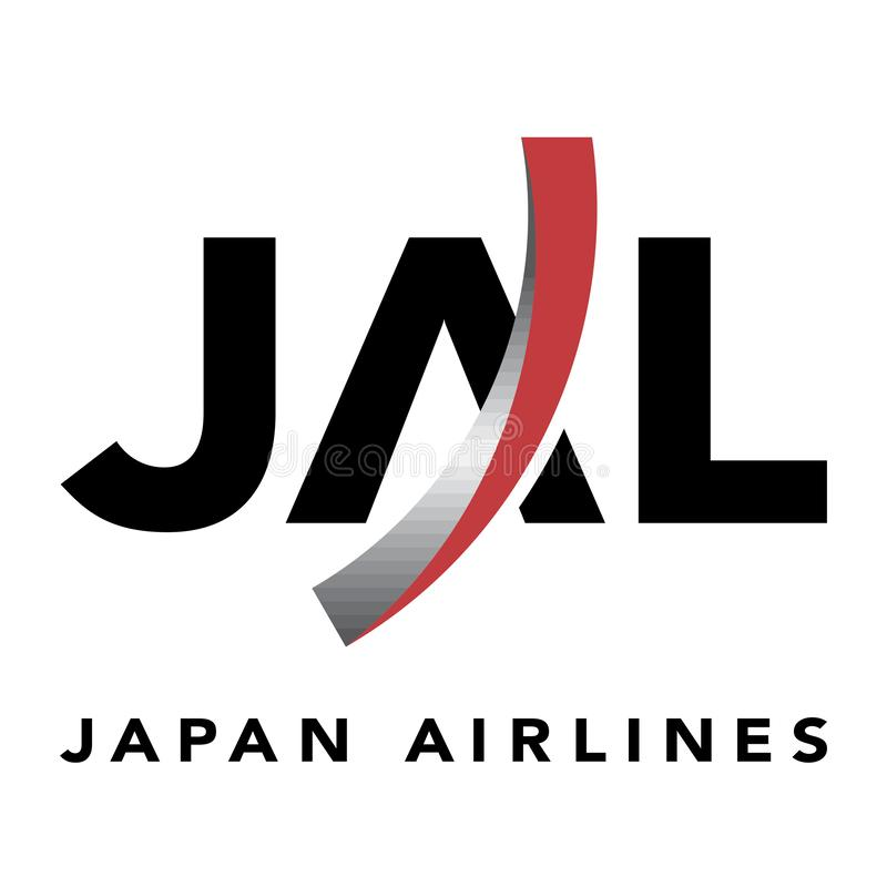 Icône de logo de Japan Airlines illustration stock