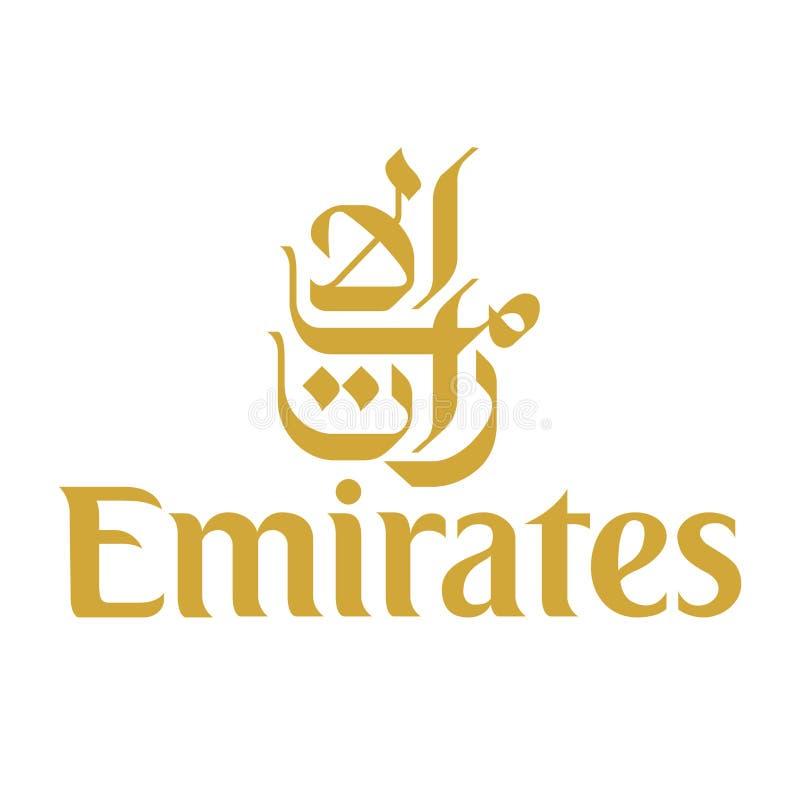Icône de logo de ligne aérienne de Fly Emirates illustration stock