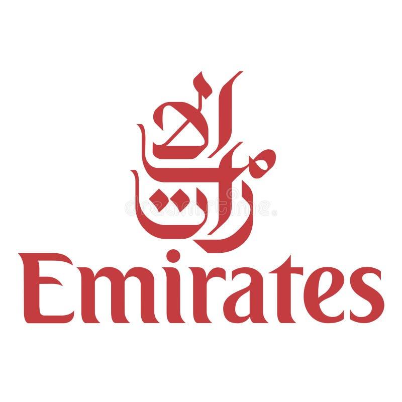 Icône de logo de ligne aérienne de Fly Emirates illustration libre de droits