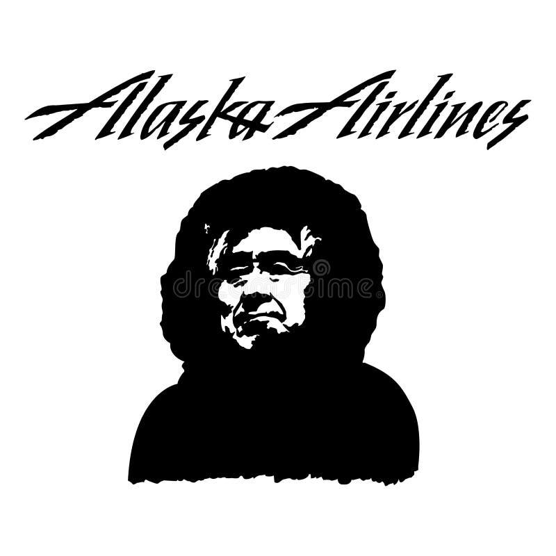 Icône de logo de ligne aérienne de l'Alaska illustration de vecteur
