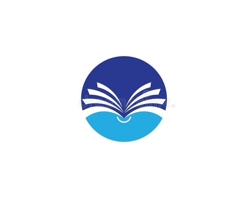 Icône de logo de livre illustration stock