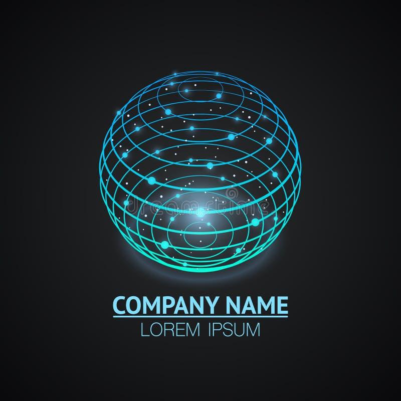 Icône de logo de signe de réseau Internet illustration de vecteur