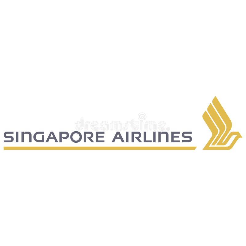 Icône de logo de Singapore Airlines illustration stock