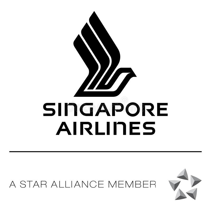 Icône de logo de Singapore Airlines illustration de vecteur