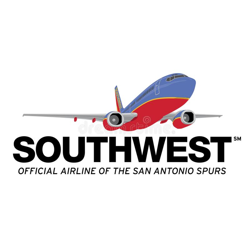 Icône de logo de Southwest Airlines illustration de vecteur