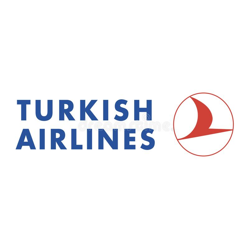 Icône de logo de Turkish Airlines illustration stock